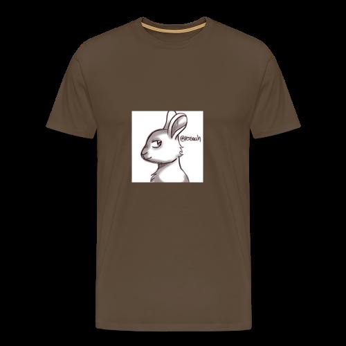 Konijn van @pessaah volg haar op twitter - Mannen Premium T-shirt