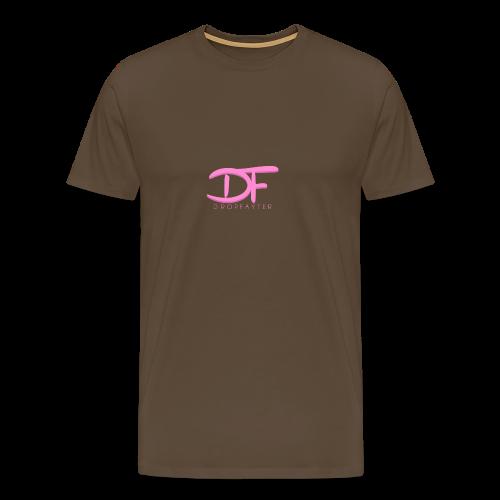 Dropfayter Logo - DF Roze - Mannen Premium T-shirt