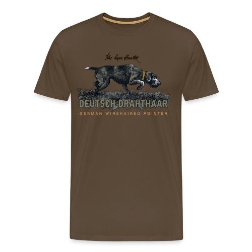 Deutsch Drahthaar Der Geborene Jäger - Männer Premium T-Shirt