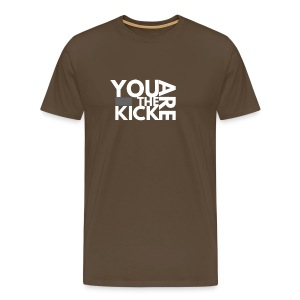 LOGO THE KICK REVERSED - Mannen Premium T-shirt