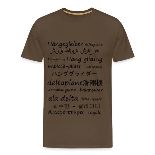 deltaplane en plusieurs langues - T-shirt Premium Homme