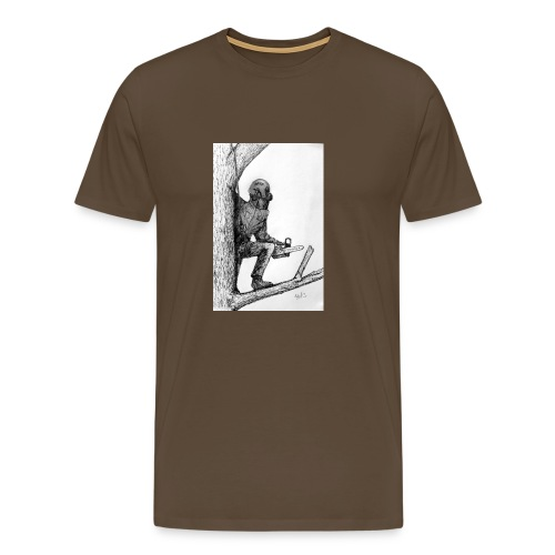 Arborist Tree Surgeon Using a Chainsaw - Men's Premium T-Shirt
