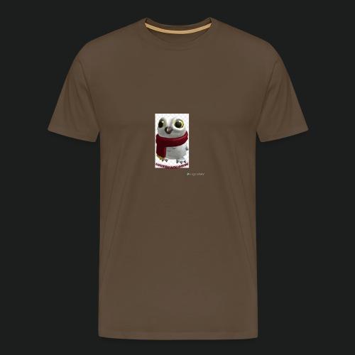 Merch white snow owl - Mannen Premium T-shirt