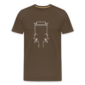 Kopf weiss groß - Männer Premium T-Shirt