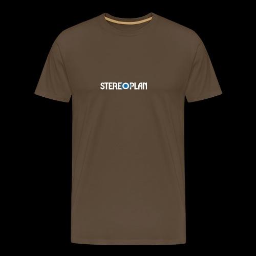 Stereoplan Logotype white - Premium-T-shirt herr