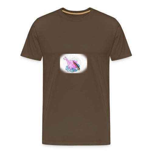Regenbogen pupsendes Einhorn - Männer Premium T-Shirt