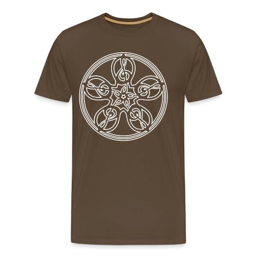 CELTIC CLEF MANDALA (white outline) - Men's Premium T-Shirt