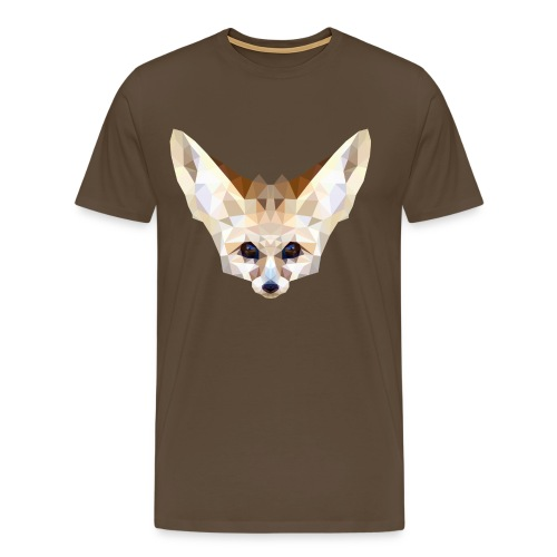 Fennec low poly - T-shirt Premium Homme