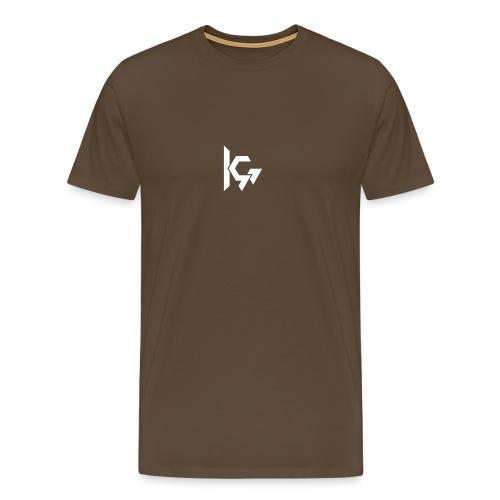 KEVQ_Logo_2016_wit - Mannen Premium T-shirt