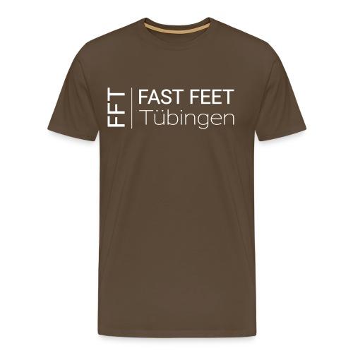 Fast Feet Tübingen - Text-Logo - Männer Premium T-Shirt