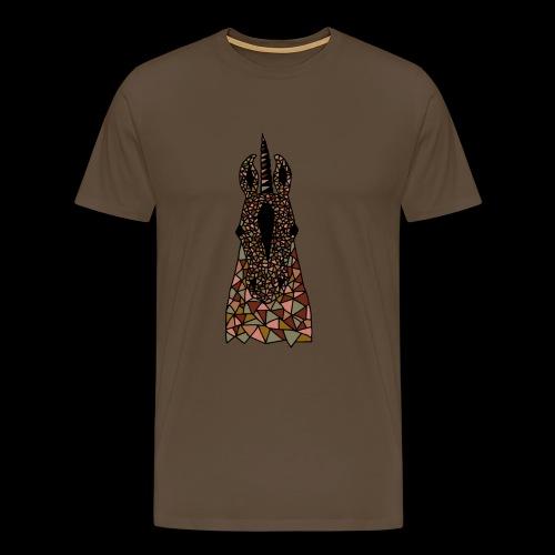 Einhorn Braun Pferdekopf - Männer Premium T-Shirt