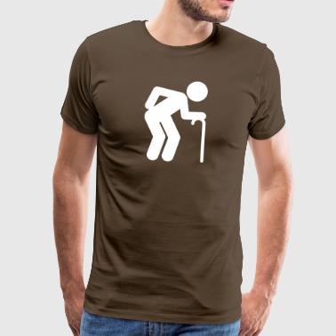 En manålder vid pensionsåldern - Premium-T-shirt herr