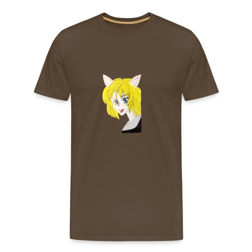 Femme chat - T-shirt Premium Homme