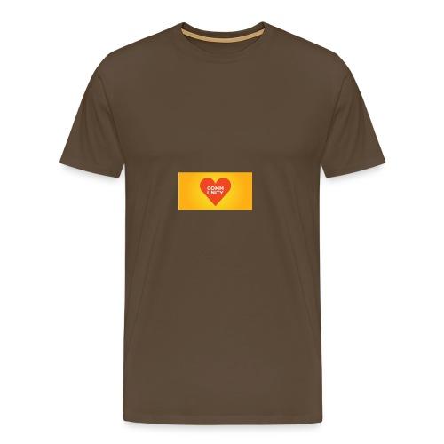 I LOVE COMMUNITY T-SHIRT - Männer Premium T-Shirt
