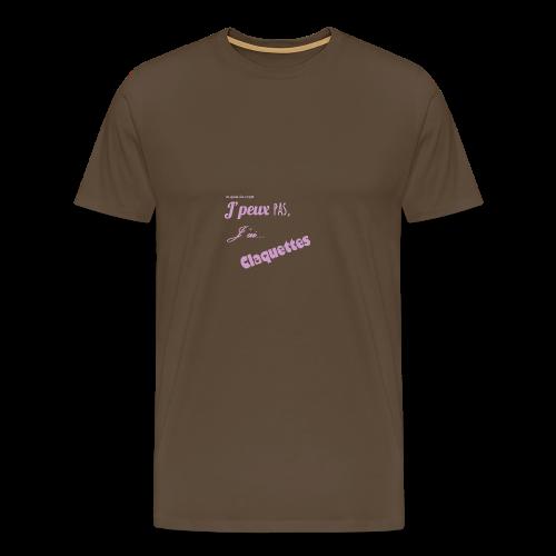 j'peux pas j'ai claquettes - T-shirt Premium Homme