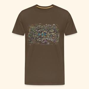 Street Art hypnotique - T-shirt Premium Homme
