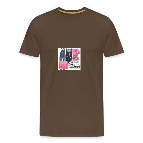outfit pace e amoreio amo il colore - Maglietta Premium da uomo
