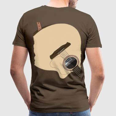 Gitarr på ryggen - Premium-T-shirt herr