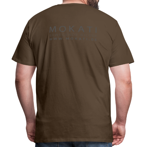 MOKATI bewegende bilder - Logo dunkelgrau - Männer Premium T-Shirt