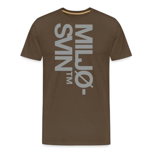 Miljøsvin (tm) - Det norske plagg - Premium T-skjorte for menn
