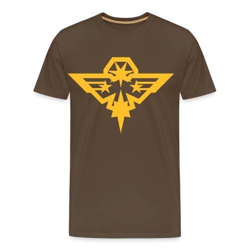 Aigle charbonneur coloré - T-shirt Premium Homme