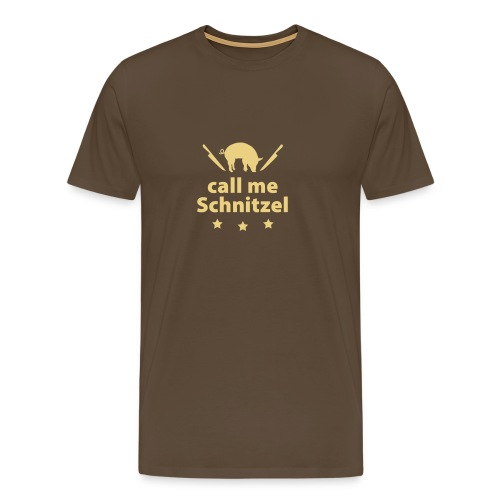 call me Schnitzel Schwein Fleisch Steak Grill Sau - Men's Premium T-Shirt