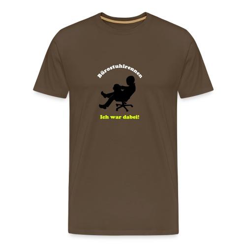Bürostuhlrennen - ich war dabei by Lola - Männer Premium T-Shirt