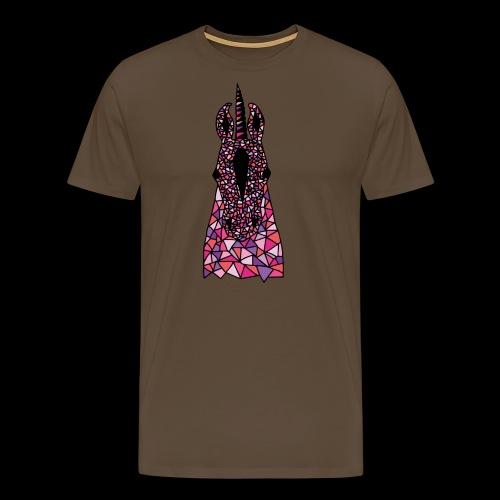 Einhorn Pink Pferdekopf - Männer Premium T-Shirt