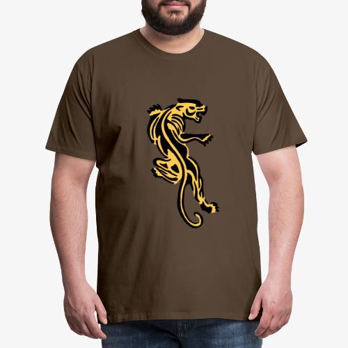 Tiger great cat design by patjila - Men's Premium T-Shirt