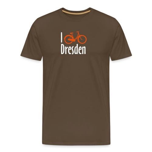 I Bike Dresden - Hollandrad - Männer Premium T-Shirt