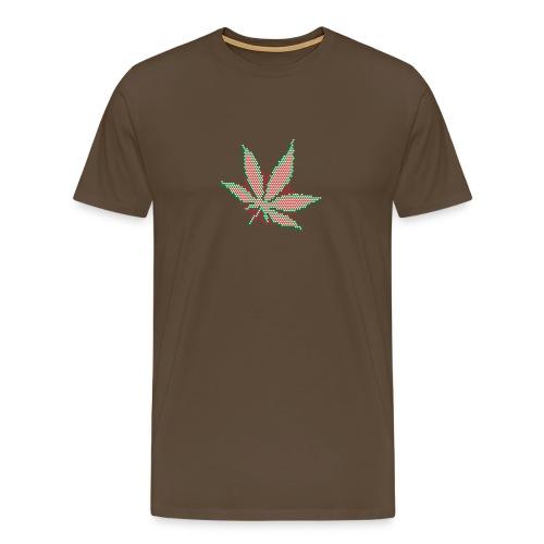 Hanfblatt-Raster (Aus Punkten) - Männer Premium T-Shirt