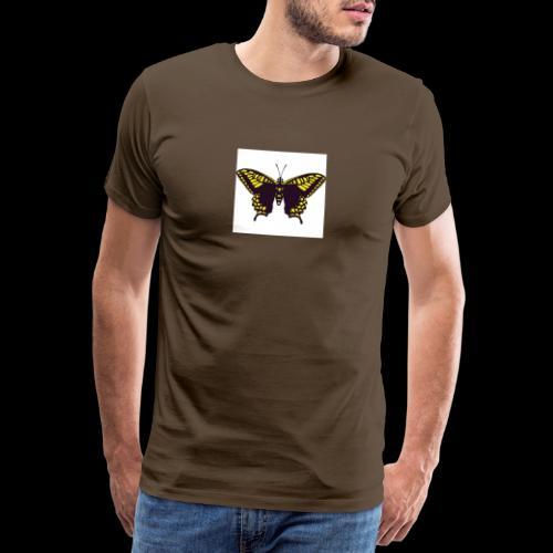 Black & Yellow Butterfly - Men's Premium T-Shirt