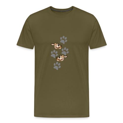 2 liegende Hunde - Männer Premium T-Shirt