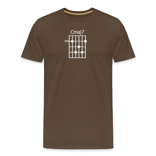 Chord diagram Cmaj7 - Männer Premium T-Shirt