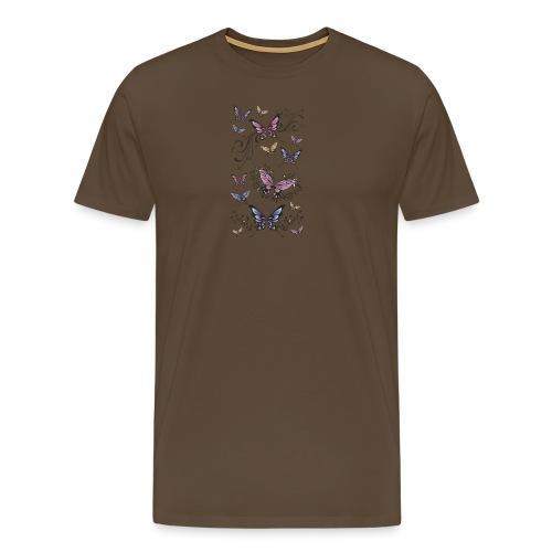 Tattoo de mariposas lilas y rosas - Camiseta premium hombre