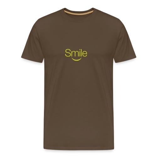 smile word gruen - Männer Premium T-Shirt