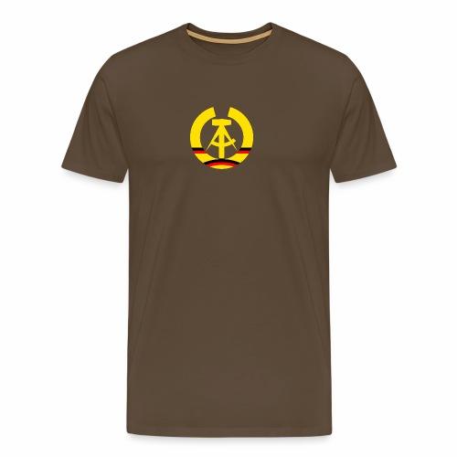 DDR coat of arms stylized (single) - Men's Premium T-Shirt