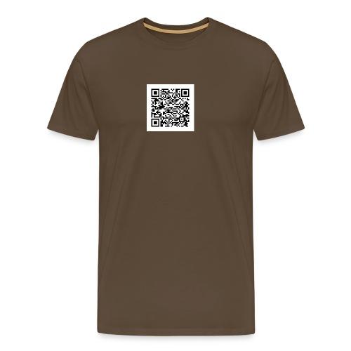 qr white - Männer Premium T-Shirt
