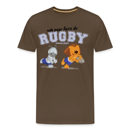 rugby_comme_papa - T-shirt Premium Homme