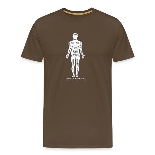 Cannibal's Choice: Cuts of Long Pig - Mannen Premium T-shirt