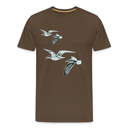 Måger blå - Men's Premium T-Shirt