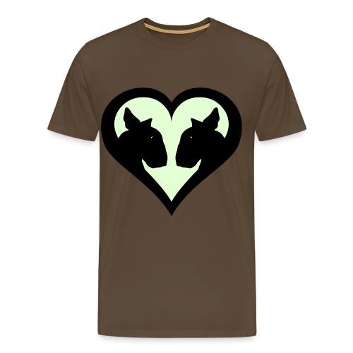 Bull Terrier Love Heart - Men's Premium T-Shirt