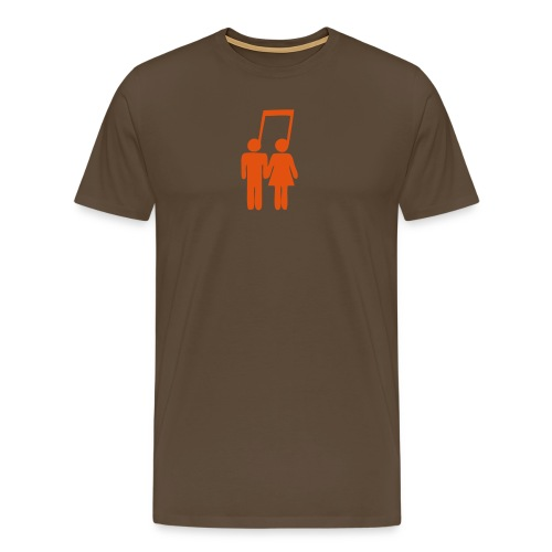 Musical Love - Premium T-skjorte for menn