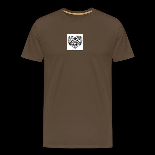 serduszko - Koszulka męska Premium