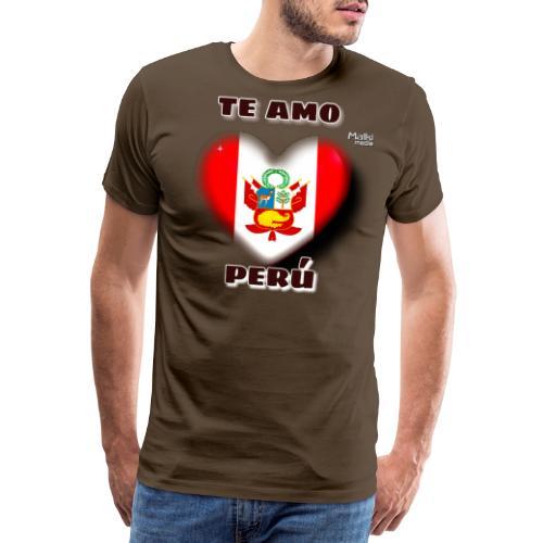 Te Amo Peru Corazon - Camiseta premium hombre