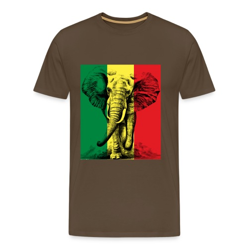 Elephant of Savanna Africa Jungle Safari - T-shirt Premium Homme