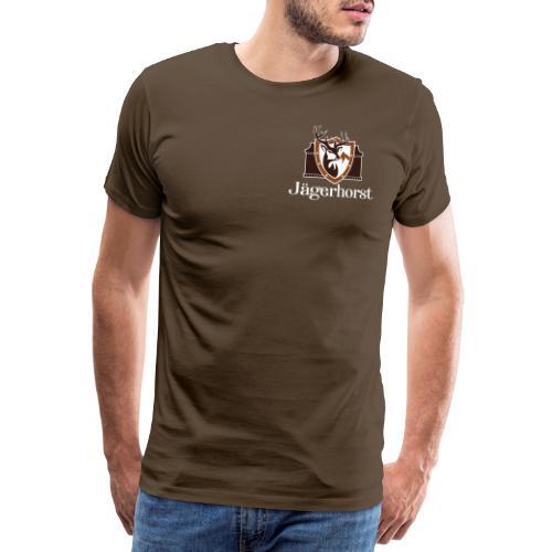 Jägerhorst Logo Weiss - Männer Premium T-Shirt