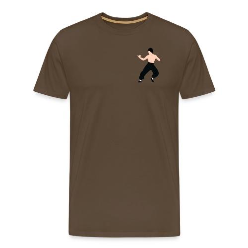 Bruce lee Kampf Pose - Männer Premium T-Shirt