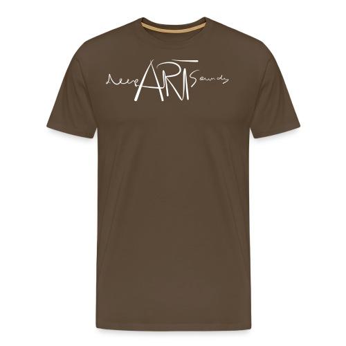 LOGO deepArtSounds Weiss Transparent gif - Men's Premium T-Shirt