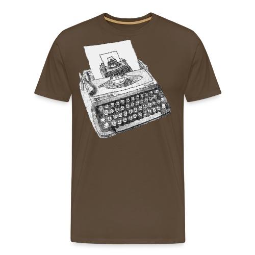 Typewritten Typewriter writer er - Männer Premium T-Shirt